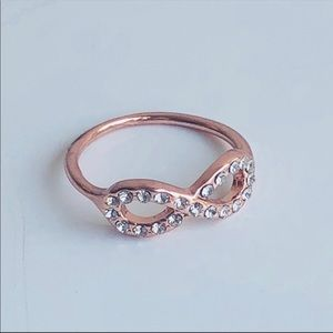 Rose Gold Tone Infinity Ring size 6.5